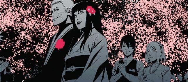 Ilustración de la boda de Naruto y Hinata