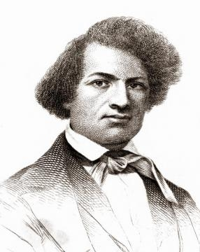 Sketch of Frederick Douglass, 1845. [Image By Wikimedia Commons/Public Domain]