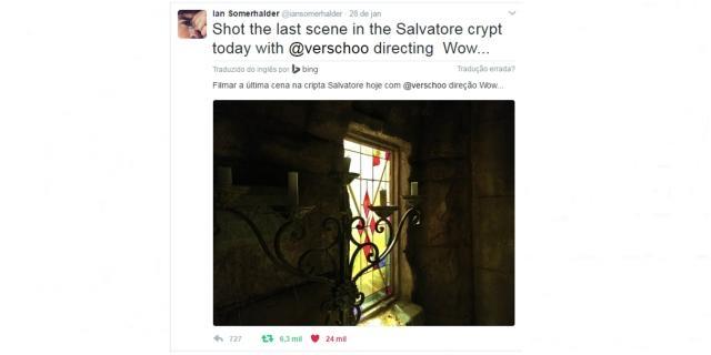 Em clima de despedida e comemorações | The Vampire Diaries - Ian Somerhalder fala de sua cena final na cripta Salvatore.