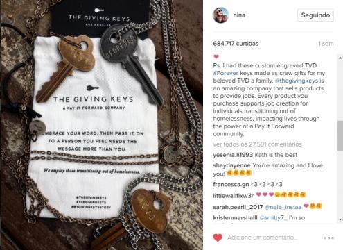 Em clima de despedida e comemorações | The Vampire Diaries - Nina Dobrev se despede de seus fãs carinhosamente.