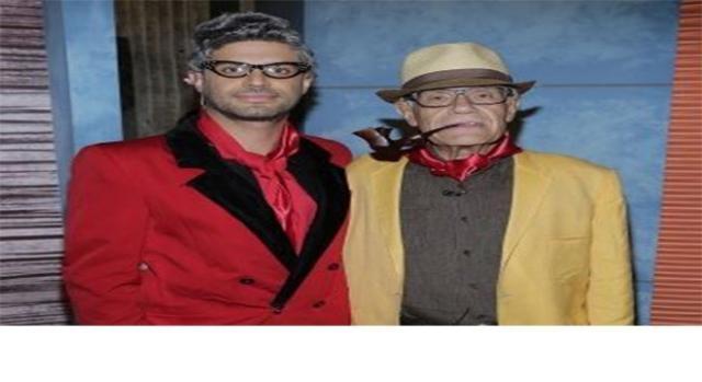 O ator com seu pai Alejandro Tacher