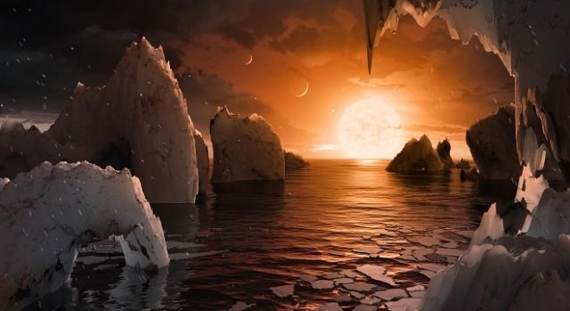 Artist's conception of the exoplanet TRAPPIST-1f / Image courtesy of NASA/JPL-Caltech, jpl.nasa.gov (public domain)