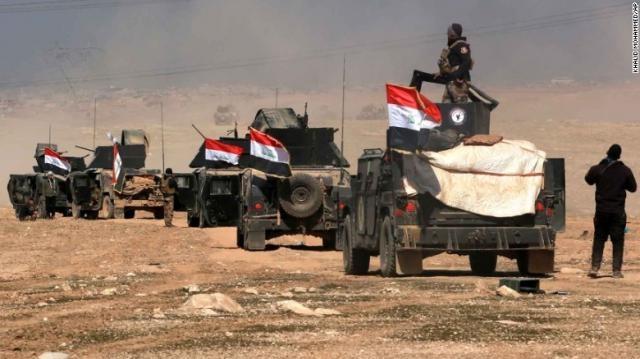 Troops advancing on Mosul. http://edition.cnn.com/2016/10/17/politics/us-military-mosul/index.html