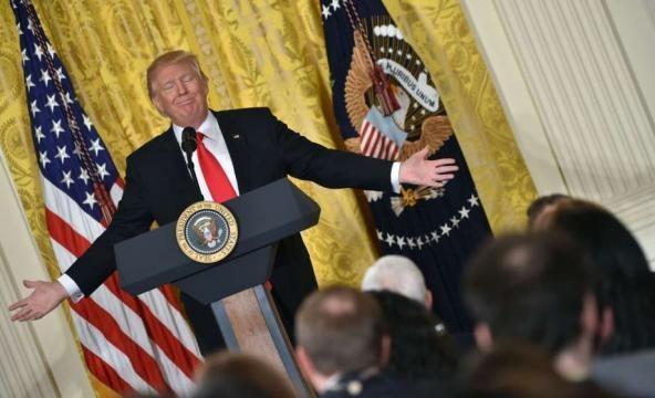 Trump raps 'criminal' leaks, 'dishonest' media, 'bad' judges - San ... - sfchronicle.com