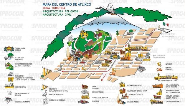 Mapa turístico de los principales atractivos.