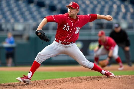 Max Knutson, Huskers hold on to edge Kansas at Kauffman Stadium ... - omaha.com