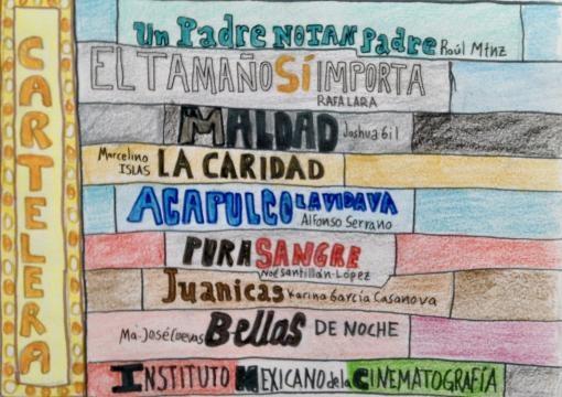 Cartelera del cine apoyado por el Gobierno Mexicano.