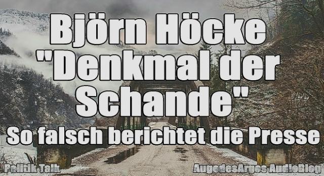 Szef AfD w Turyngii – Höcke, wezwał Niemców, by uwolnili się od hańby złych, antynarodowych rządów.