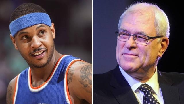 The fued rages on between Phil Jackson and Carmelo Anthony- sportingnews.com
