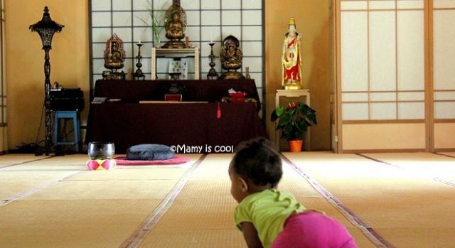 Una fotografia che inquadra bene l'altare (quello che compare nelle prime scene del video).
