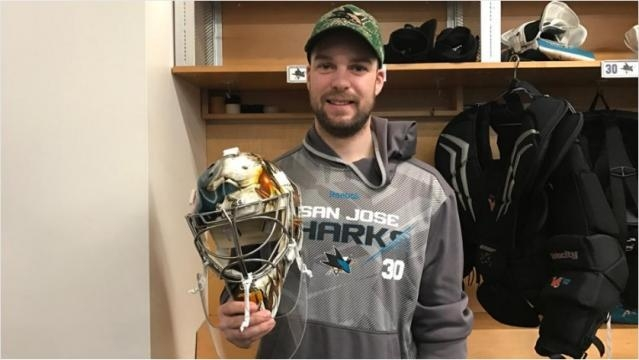 Aaron Dell's new mask reflects his stellar rookie performance