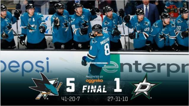 The Big Pavelski leads the Sharks to a blowout win - sjskarks.com