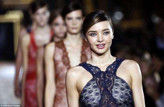 Paris Fashion Week: Cara Delevingne and Miranda Kerr walk for ... - dailymail.co.uk