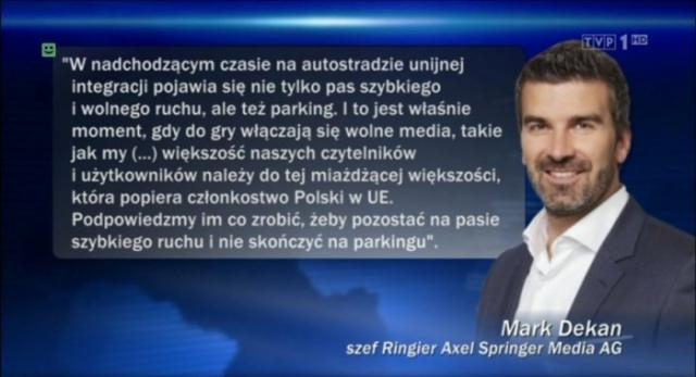Według rzecznika PiS koncern ingeruje w polskie sprawy