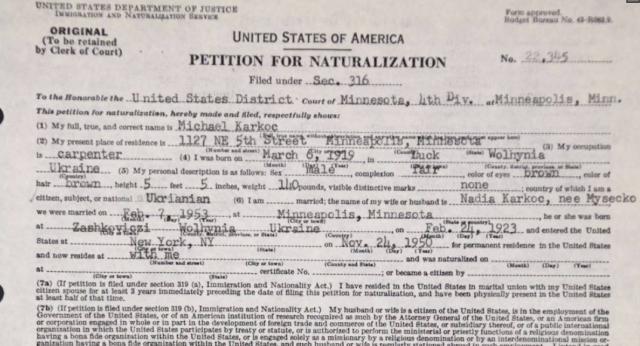 Documento del oficial nazi, Michael Karkoc