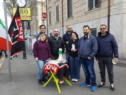 i militanti di Forza Nuova Roma