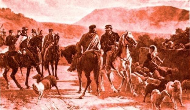 Incontro di Teano tra Garibaldi e Vittorio Emanuele II.