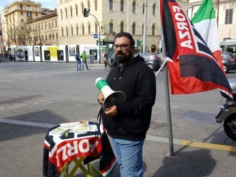 Valerio Arenare Forza Nuova Roma