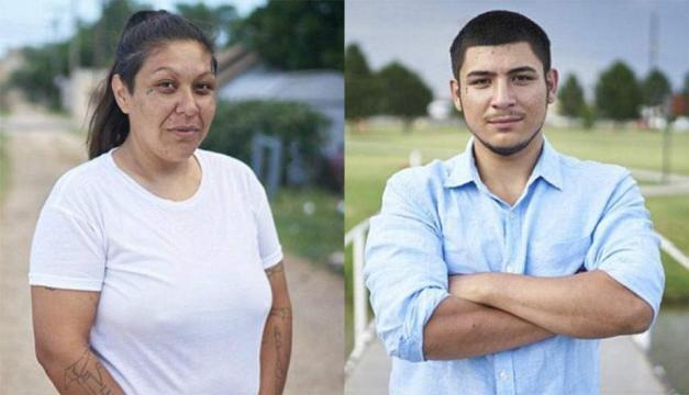 Monica Mares é mãe de nove filhos, e quando tinha 16 anos de idade deu Caleb para adoção