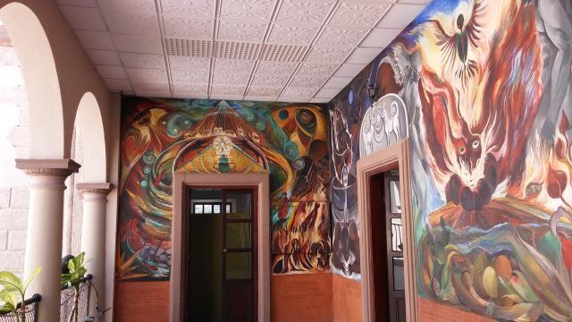 Sobrado talento se nota en la percepción de la pintura mural en distintos edificios públicos.