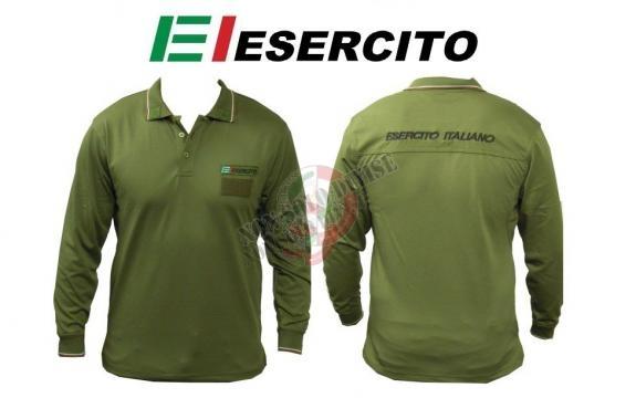 Polo Modello Esercito Italiano Manica Lunga Art.E-P-L La maglietta ... - nonsolodivise.com