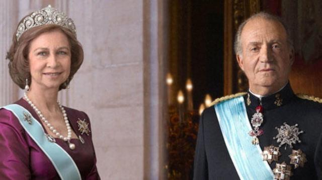 El rey emérito Juan Carlos y la reina Sofía
