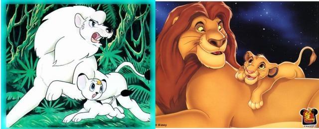 kimba y el rey leon son prácticamente iguales