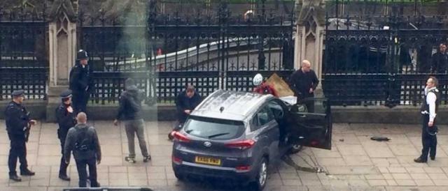 L'auto dell'attentatore di Westminster