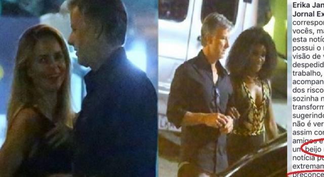 Garanhão? Jornal Extra acusa Marcelo Novaes e pegar uma loira e a atriz Erika Januza na mesma noite. Atriz faz revelação e choca fãs sobre o caso.