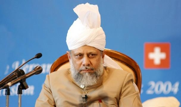 Caliph of the Ahmadiyya Muslim Community Mirza Masroor Ahmad / Jahresversammlung, Wikimedia Commons CC0 Public Domain