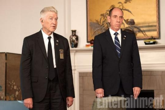 David Lynch and Miguel Ferrer as Agents Gordon Cole and Albert Rosenfield / Photo via Entertainment Weekly