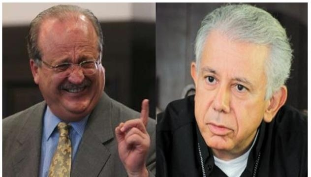 El gobernador de Morelos, Graco Ramírez, y el obispo de Cuernavaca, Ramón Castro