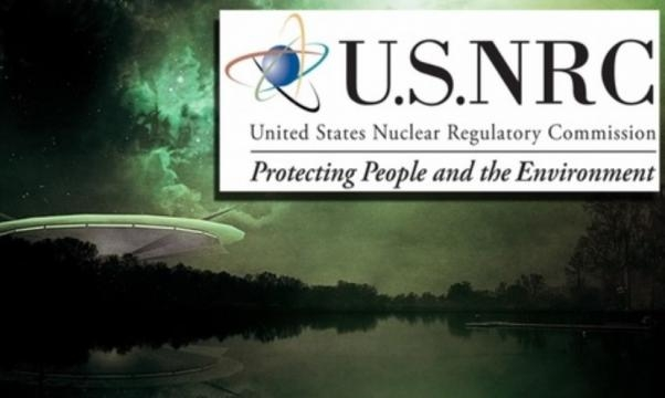 Sopra il logo della United States Nuclear Regulatory Commission che ha fornito al FOIA i documenti sugli UFO