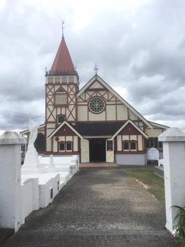 A church from the Maori villiage, Rotorua