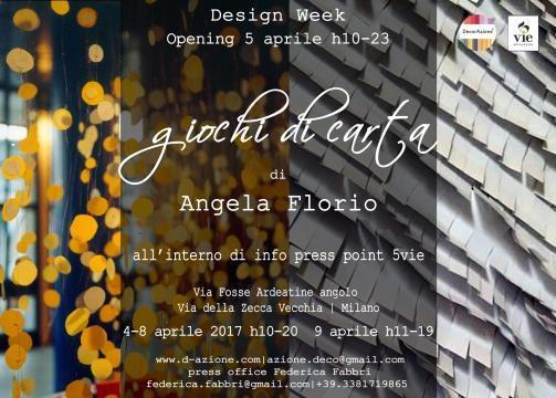 GIOCHI DI CARTA Angela Florio INFO PRESS POINT 5VIE
