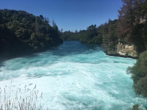This is Huka Falls, near Lake Taupo