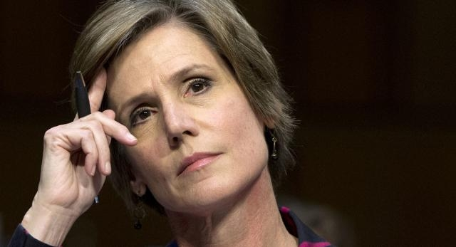 Acting Attorney General Sally Yates, fired by Trump for
