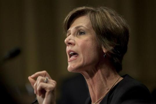 Former acting Attorney General Sally Yates / Photo by Carolyn Kaster via blasting News libray