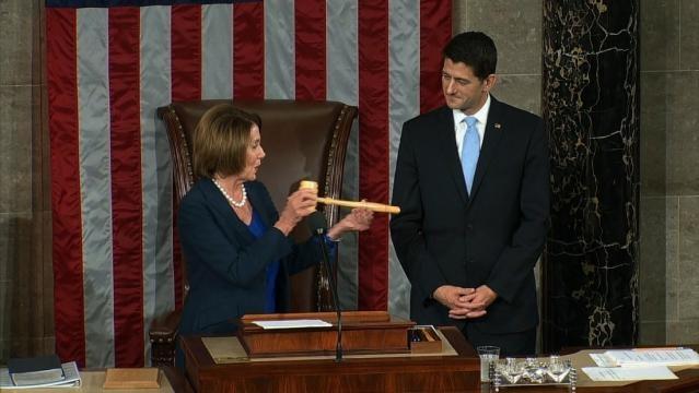 Nancy Pelosi passes gavel to House Speaker Paul Ryan - cnn