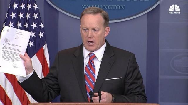 Spicer: '100% False' That WH Blocked Yates Testimony / Photo by nbcnews.com via Blasting News library