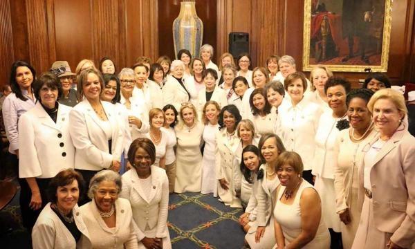 Democratic Women wear white for President Trump's address in ... - usfinancepost.com