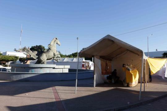 Plaza pública en los Mochis, Sinaloa.