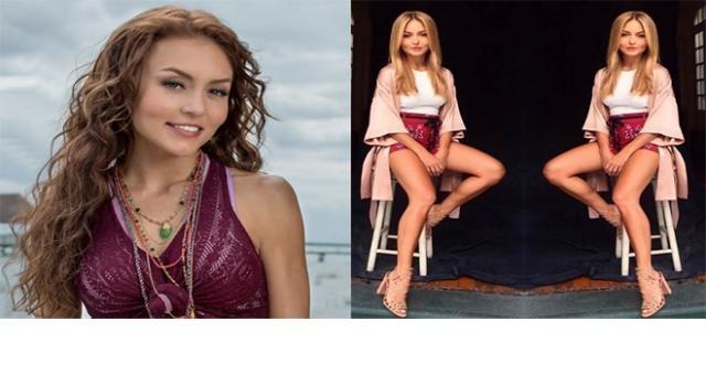 À esquerda a atriz durante 'Tres Veces Ana' e à direita o novo visual de Boyer