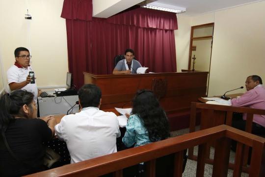 Audiencia. Cortesía del Poder Judicial del Perú.
