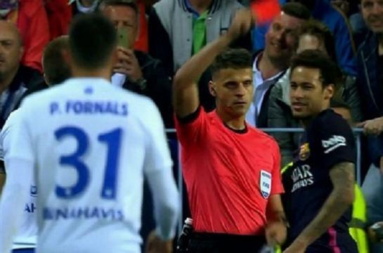 Neymar ¿Segunda amarilla o roja directa?