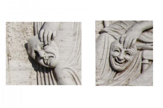 Las tradicionales máscaras a las que pocos ligan con el nombre de una musa