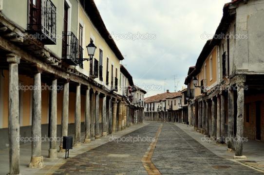 Street. Ampudia. Spain. — Stock Photo © javigares #44213361 - depositphotos.com