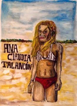 Ana Claudia luce su figura en traje de baño el 100% de la película.