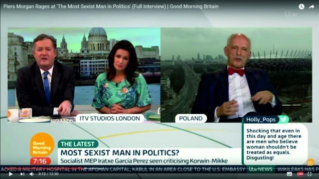 Janusz Korwin-Mikke w brytyjskim programie