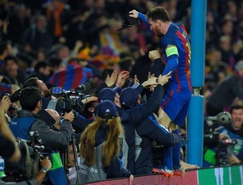 Messi celebrando el último gol del Barça